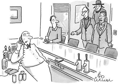 Cartoon Bar-minister-priest-rabbi