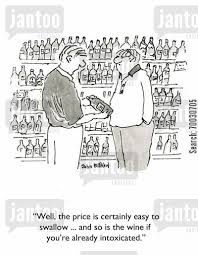 Wine buying cartoon